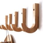Perchero gancho madera