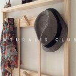 Perchero pared madera natural